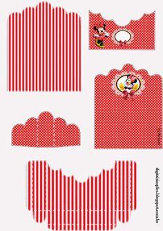 Minnie en Rojo: Soporte para Golosinas para Imprimir Gratis.