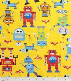 Nursery Fabric- Robot Rock Yellow: nursery fabric: fabric: Shop   Joann.com