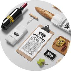 Diseño de imagen corporativa para bar restaurante. Logo restaurante. Logo bar.