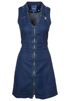 G-Star Rider jeans dress, longer skirt Outfit Jeans, Jeans Dress, Dress Outfits, Fashion Dresses, Cute Outfits, Denim Ideas, Denim Fashion, African Fashion, Designer Dresses