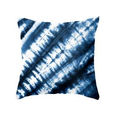 Blue Slanted Tie-Dye Pillow.  How would you do this on pottery?