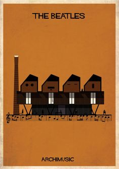 "ARCHIMUSIC: Illustrations Turn Music Into Architecture by Federico Babina - The Beatles, ""Let it be"""