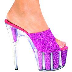 24+Inch++neon+glitter+Heels | inch Glitter Slip On Mule