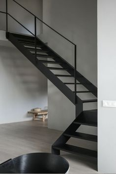 Awesome 43 Vintage Minimalist Home Stair Design Ideas That Look More Cool For Future Home Interior Design Blogs, Swedish Interior Design, Swedish Interiors, Interior Styling, Home Stairs Design, Interior Stairs, Stair Design, Steel Stairs, Minimalist Home