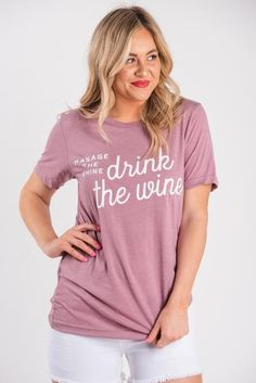 7c9f6e5c Manage the whine, drink the wine unisex short sleeve t-shirt orchid. Lush  Fashion Lounge