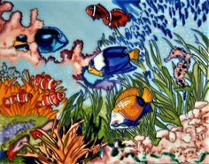 Tropical Fish  Decorative Ceramic Art Tile  11x14 En Vogue *** This is an Amazon Affiliate link. Check out this great product.