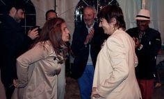 Carol y Chari, en la fiesta.