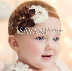 diademas para bebé diademas marrón de plumaje por SAVANIboutique