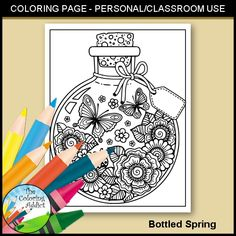 Bottled Spring Coloring Page