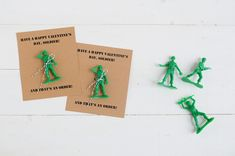a pretty cool life. // green army men valentines