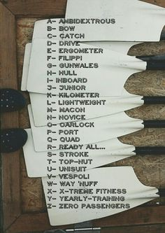 The Rowing Alphabet