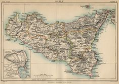 Mafia Towns in Sicily | Sicily Map 1889 courtesy of Brittanica-  No known Mafia family, but one never knows for sure.