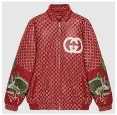 5ba9eb66 Fashion Concierge Vip Gucci Dapper Dan GG Leather Bomber Gucci Fashion,  Latest Mens Fashion,