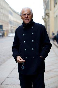 On the Street... Mr. Armani, Milano | The Sartorialist | Monday, March 29, 2010