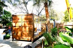 The is a collaborative project between and to serve as an additional micro sanctuary The is a beautifully designed and constructed environment made from a 20 ft converted housing a lush edible ecosystem. Come take a walk on the wild, tranquil side! Grey Water Recycling, Tankless Hot Water Heater, Used Shipping Containers, Container Architecture, Built Environment, Green Building, Building Materials, Solar Panels