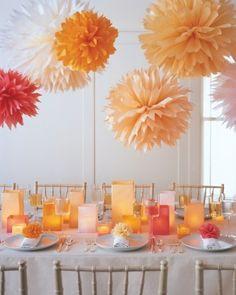30 Hanging Paper Pompoms Decor Ideas For Your Wedding | Weddingomania