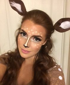 DIY Doe/deer Halloween Costume Find out how I put it together here: https://leahgroskopf.wordpress.com/2016/10/18/diy-doehalloweencostume/