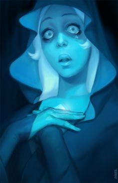 Blue Diamond from Steven Universe. Blue Diamond Su, Blue Diamond Steven Universe, Steven Universe Anime, Steven Universe Wallpaper, Steven Universe Characters, Universe Art, Fanart, Cool Art, Character Design