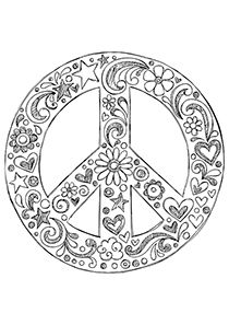 Peace Doodle flower Blume fleur fiore flor цветок  květina  flor blomma coloring for adults, kleuren voor volwassenen, Färbung für Erwachsene, coloriage pour adultes, colorare per adulti, para colorear para adultos, раскраски для взрослых, omalovánky pro dospělé, colorir para adultos, färgsätta för vuxna, farve for voksne, väritys aikuiset difficult schwierig difficile difficile difícil трудно  těžké  difícil vårt detailed detaillierte détaillée dettagliate detallados подробную  detailní…