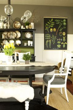 Love this woman's dining room!