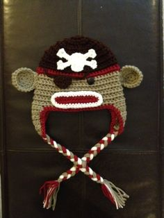 Oh dear God...it's a pirate sock monkey hat.  For the kids, of course.