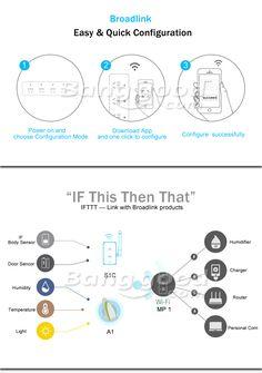 Broadlink MP1 Smart Home Wifi Timing Plug Power Strip 4 Ports Individual Wireless Remote Control