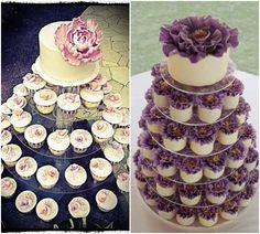 Creative Cupcakes: A Delicious Alternative to the Wedding Cake. To see more: www.modwedding.com
