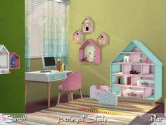 Children's bedroom with candy colors  Found in TSR Category 'Sims 4 Study Sets'