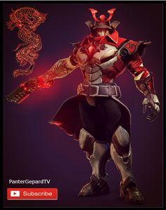 Samurai Androxus fan skin