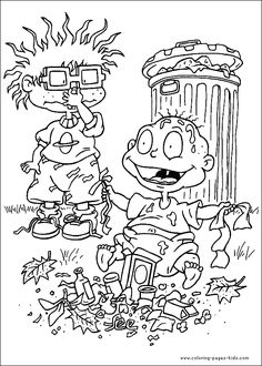 rugrats color page cartoon characters coloring pages color plate coloring sheetprintable coloring