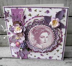 Maribel. Stempelglede :: Design Team Blog. 2014 © Pia Baunsgaard Diy And Crafts, Paper Crafts, Birthday Cards For Mom, Shabby Chic Cards, Card Tags, Vintage Cards, Thank You Cards, Wedding Cards, Cardmaking