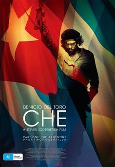 """Che is a 2008 biopic about Marxist revolutionary Ernesto """"Che"""" Guevara directed by Steven Soderbergh and starring Benicio del Toro as Che. The film is actual. Funny Commercials, Funny Ads, Graphic Design Posters, Graphic Design Inspiration, Daily Inspiration, Demian Bichir, Che Guevara Images, Benecio Del Toro, Posters Conception Graphique"""