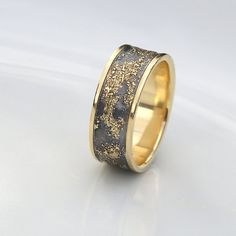 Gold Chaos Luxury Oxidized Silver and 18k by AnnaReiJewellery
