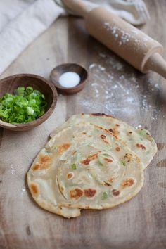 Scallion Pancake Recipe | http://rasamalaysia.com | #chinesefood #scallion #pancake