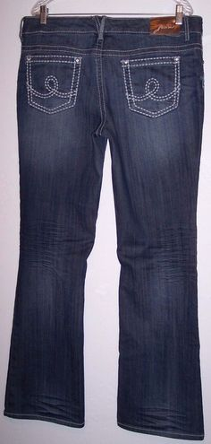 Seven Jeans 14 Stretch Denim Thick Stitched Rhinestone Women's Pants 36X33 #Seven7 #BootCut