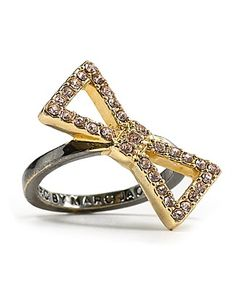 pave bow ring, marc by marc jacobs