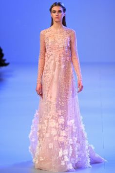 Elie Saab  I would do anything to be one of these girls!! And wear this  I'll take this in a 0.