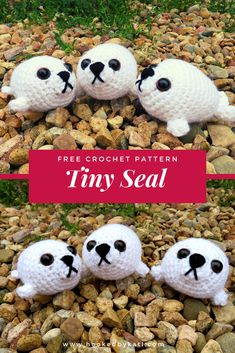 Make a little crochet baby seal for your next craft fair or create your first amigurumi with this free beginner pattern. Crochet Keyring Free Pattern, Crochet Amigurumi Free Patterns, Crochet Socks, Crochet Gifts, Hand Crochet, Crochet Baby, Free Crochet, Kids Crochet, Irish Crochet