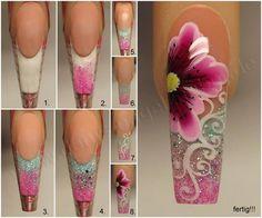 Nail art one stroke tehnique