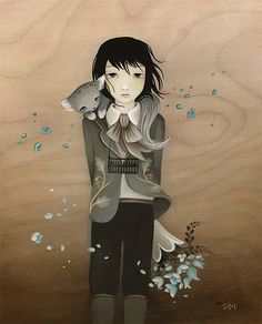 If i had lots of money. I would get so many of your work Amy Sol, Art Nouveau, Audrey Kawasaki, Blue Bouquet, 3 Arts, Pop Surrealism, Art Girl, Mystic, Illustration Art
