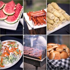 bbq menu ideas...perfect for the wedding!  Not to much food, but just right!