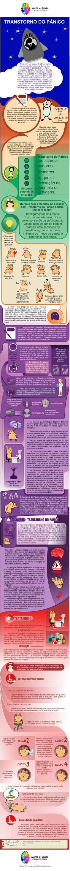 Infográfico Transtorno do Pânico - Panic Disorder - Infographic - Design - Graphic Design - Design Gráfico