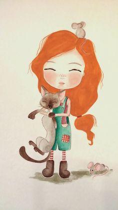 Watercolor illustration by Nutcrackerhead illustrations