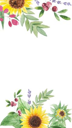 Nov this pin was discovered by ᗷeᒪᒪᗩ ᗷᖇoᗯᑎ. discover (and save! Flower Backgrounds, Wallpaper Backgrounds, Iphone Wallpaper, Sunflower Wallpaper, Flower Background Wallpaper, Watercolor Flowers, Watercolor Art, August Wallpaper, Molduras Vintage