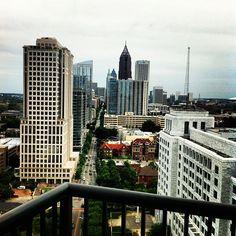 Beautiful Atlanta in your backyard #atlanta #skyline