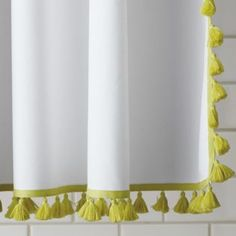 Serena & Lily: Tassel Shower Curtain – Citrine