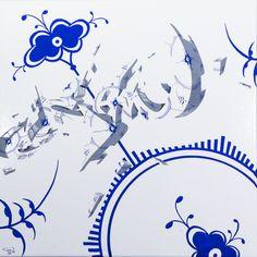 """Royal Clean """" 50x50cm painting by Frederik Hesseldahl _The Art of Clean.dk 2014"""