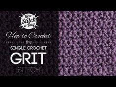 The Single Crochet Grit Stitch :: Crochet Stitch #49