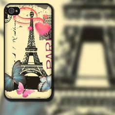 PARIS Eiffel Tower Design on iPhone 4 / 4s / 5 / 5s / 5c / 6 Rubber Silicone Case by EastCoastDyeSub on Etsy https://www.etsy.com/listing/113152987/paris-eiffel-tower-design-on-iphone-4-4s