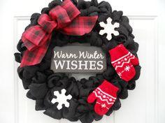 Christmas wreath winter wreath Holiday wreath by ChloesCraftCloset